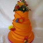 Orange wedding cake 3