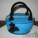 Blue and black bag
